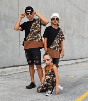 Ballerinas and Boys - Kids Camo Tee
