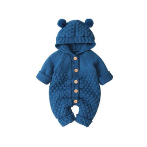 Bear Knit Onesie | Turquoise