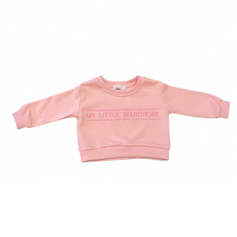 MLW By Design - 90's Brand Sweat | Pink