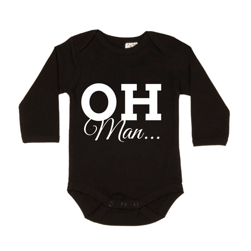 MLW By Design - Oh Man Long Sleeve Bodysuit