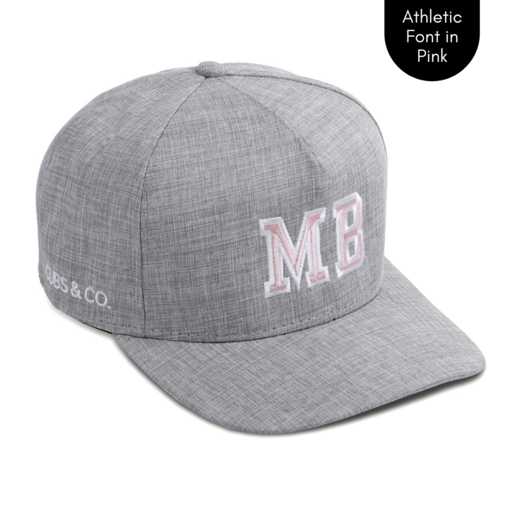 Cubs & Co - PERSONALISED GREY W/ INITIALS | ATHLETIC FONT PINK