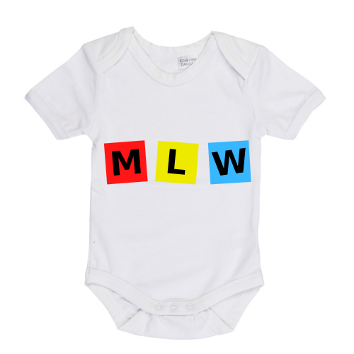 MLW By Design - MLW Retro Cubes Short Sleeve Bodysuit | White or Black