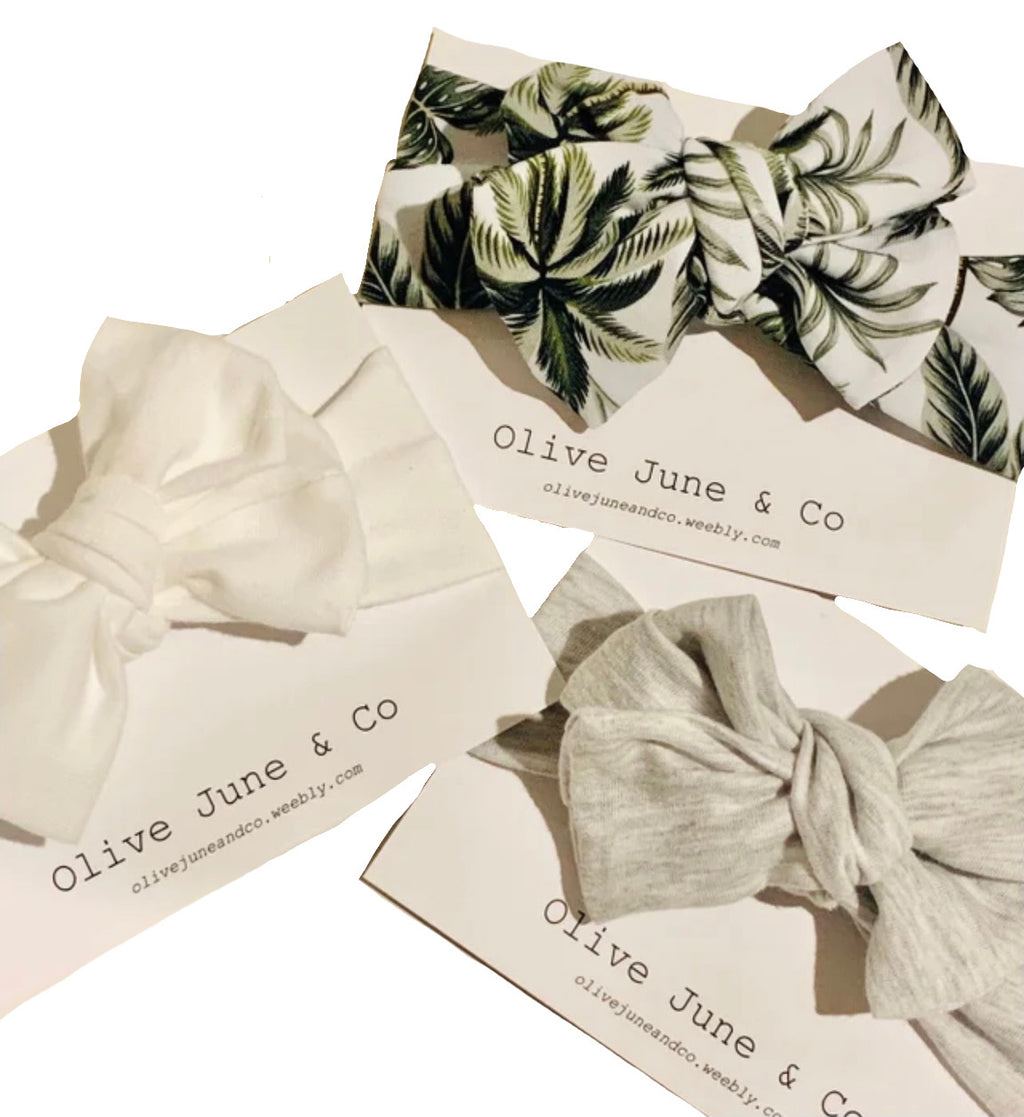 Olive June and Co - Handmade Top Knot Headband | 3 Colours