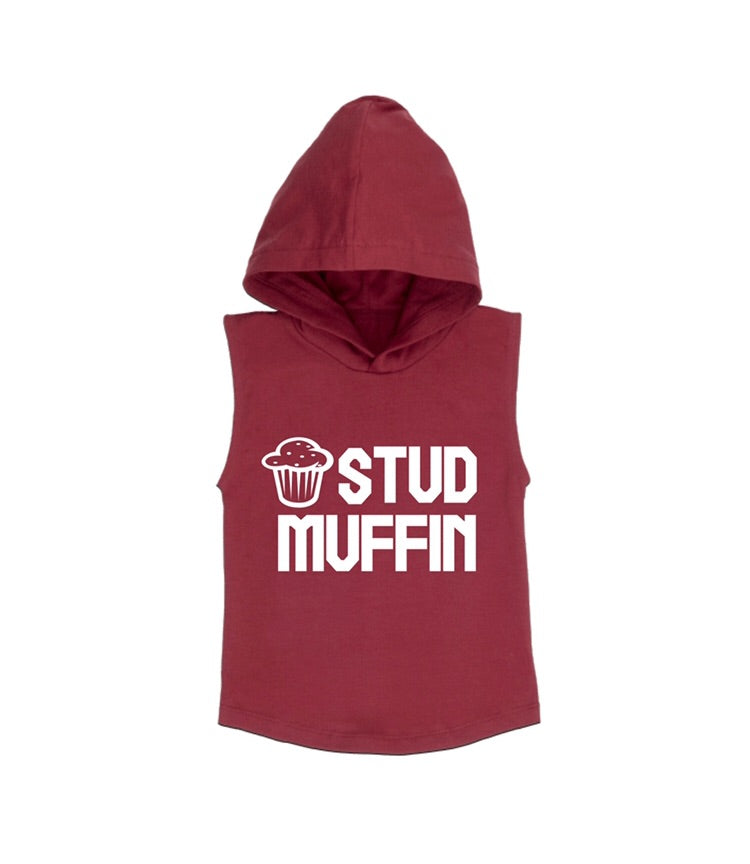 MLW By Design - Stud Muffin Sleeveless Hoodie