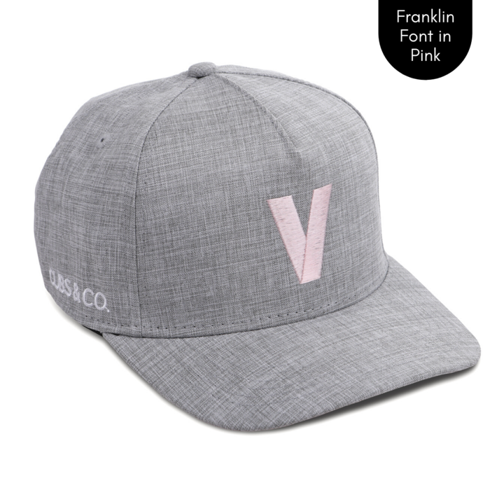 Cubs & Co - PERSONALISED GREY W/ INITIALS | FRANKLIN FONT PINK