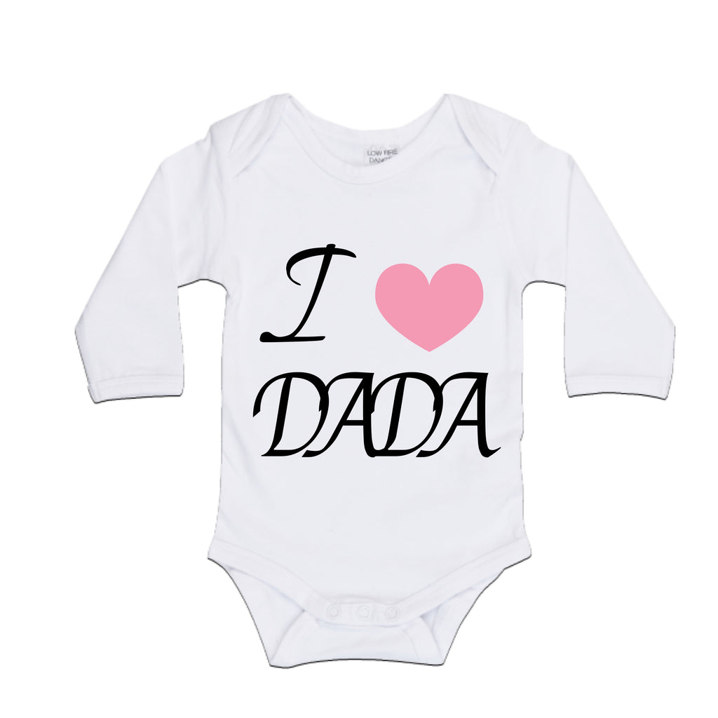 MLW By Design - Dada Bodysuit | Pink or Blue Heart