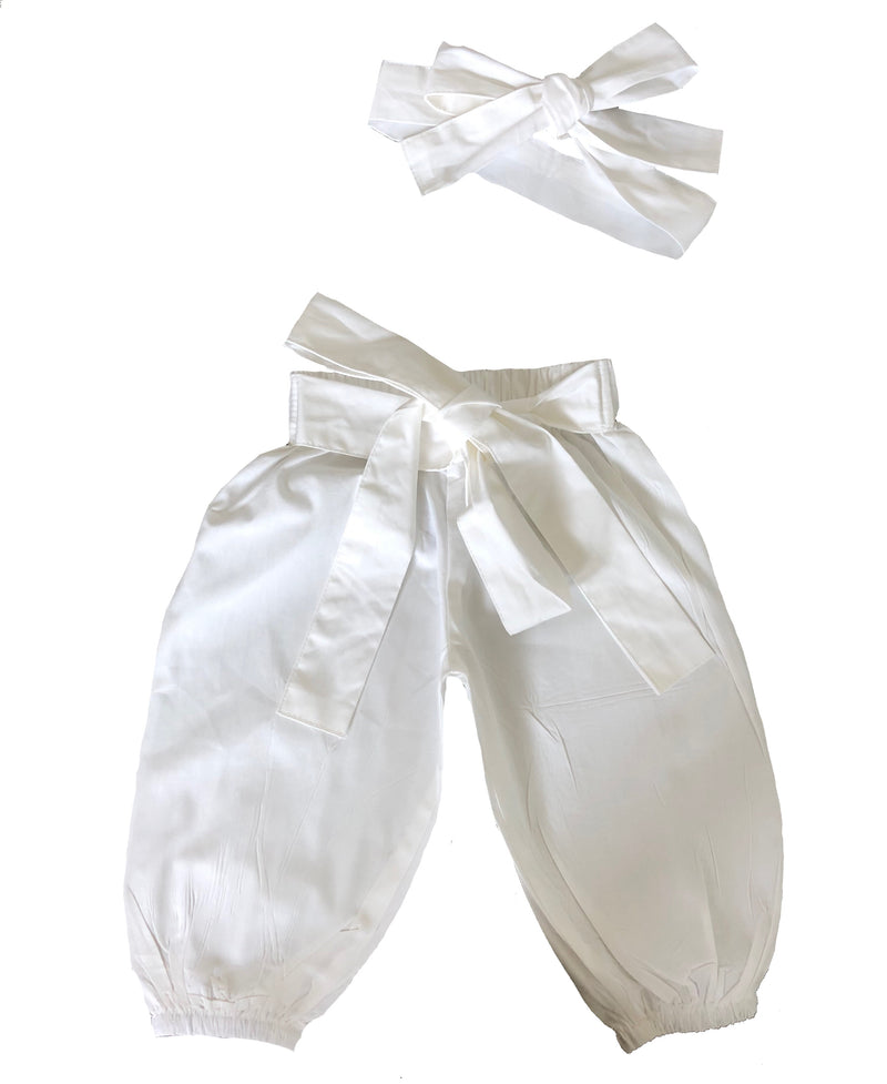MLW By Design - White Harems & Matching Headwrap | CLEARANCE