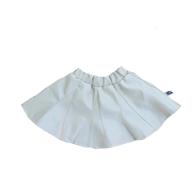 Carrington Kids - Beige Leather Skirt