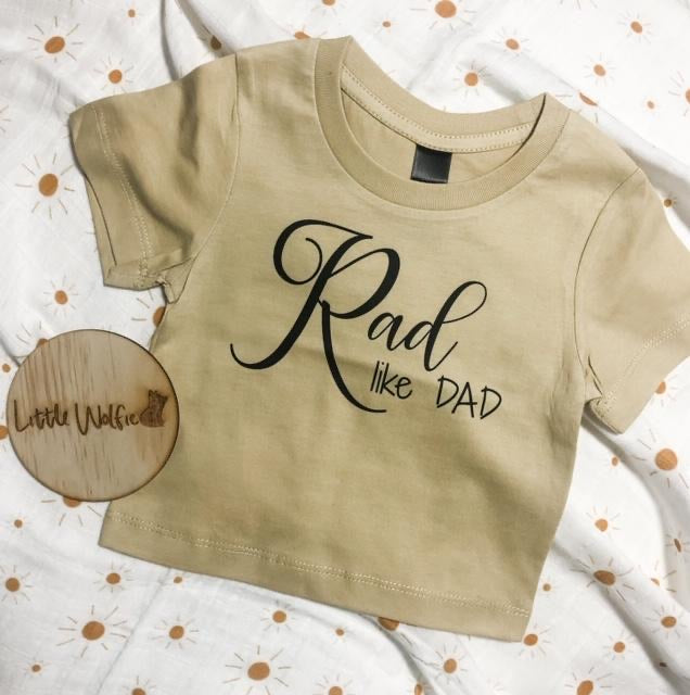 Little Wolfie - Rad Like Dad Tee
