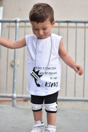 MLW By Design - Ring a Ding King Tank - White