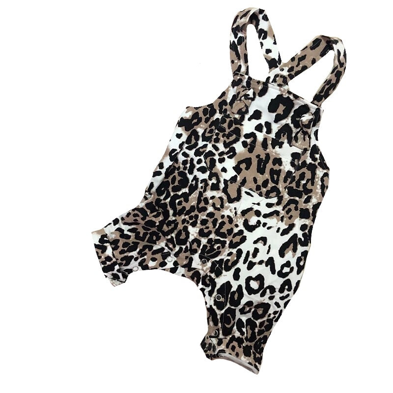 Leopard Dungarees