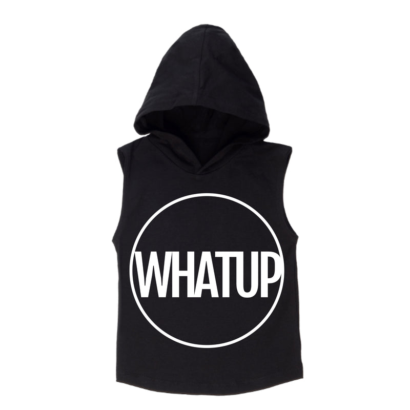 MLW By Design - WHATUP Sleeveless Hoodie | White Or Black