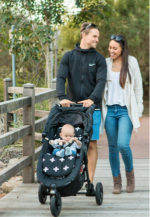 Bambella Designs - Pram Liner Cross Black