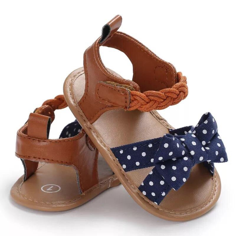 Braided Sandals | Polka Dot