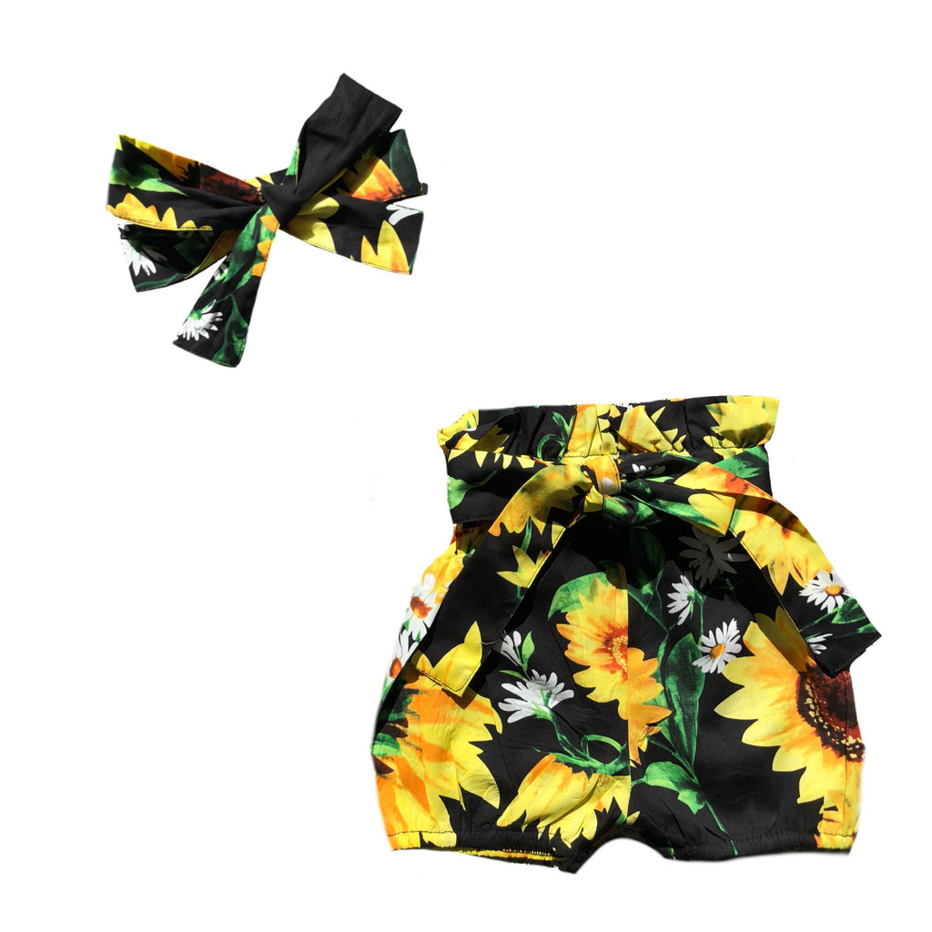MLW By Design - Sunflowers Shorts Set