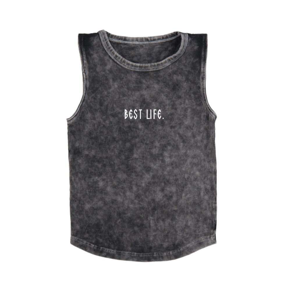 MLW By Design - Best Life Stonewash Tank