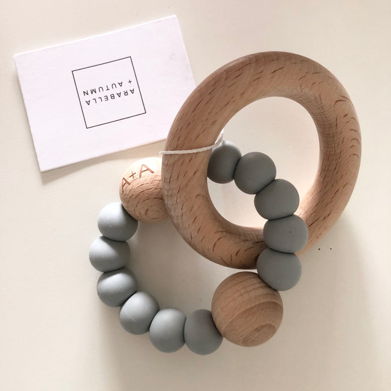 Arabella+Autumn - Saturn Teether | Grey