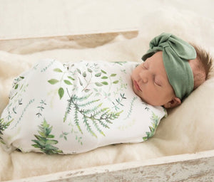 Snuggle Hunny Kids - Enchanted Baby Jersey Wrap & Beanie Set