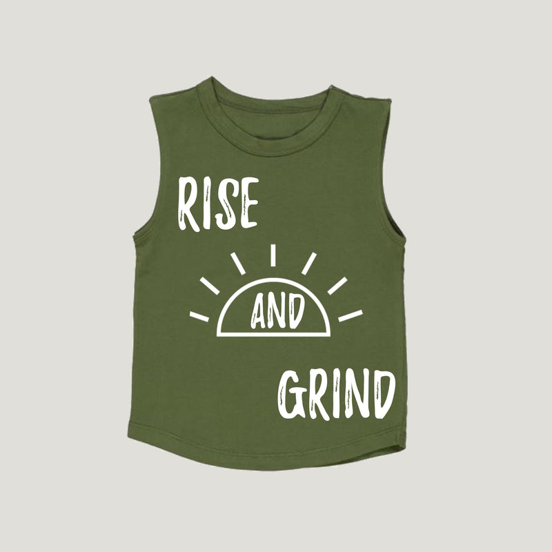 MLW By Design - Rise & Grind Tank | Kakhi or White
