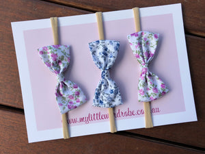 Floral Bows | Pack of 3