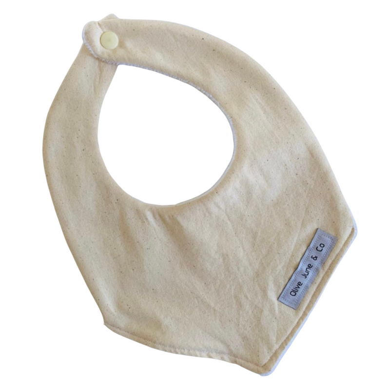 Olive June and Co - Handmade Basic Bib | Sand