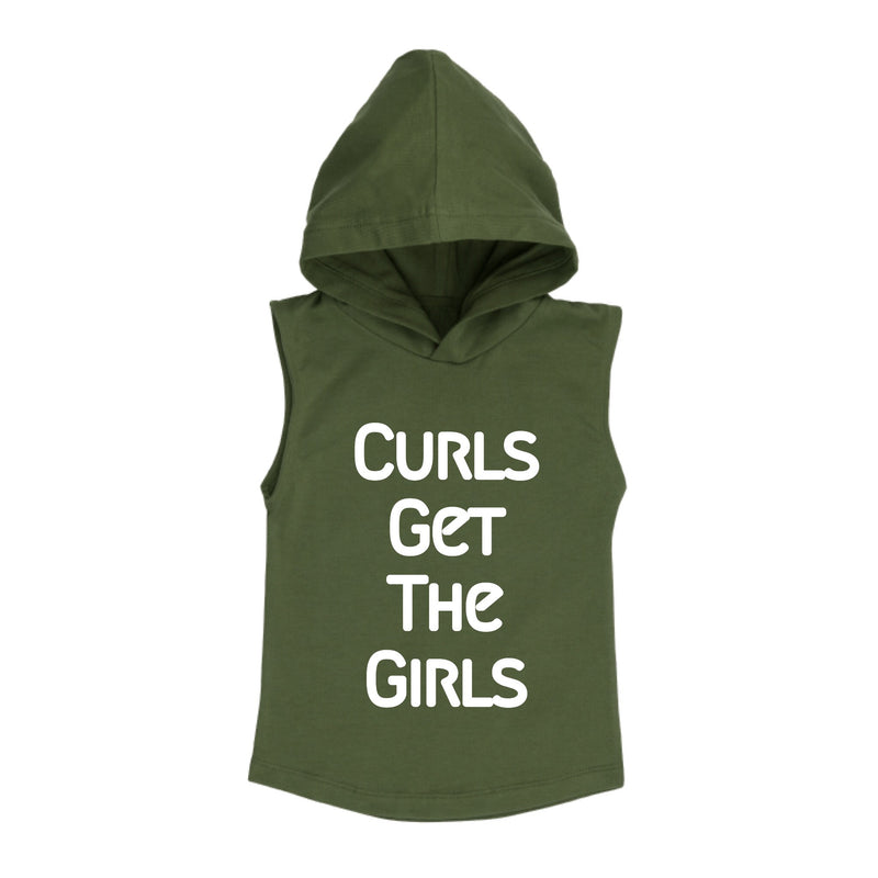 MLW By Design - Curls Sleeveless Hoodie