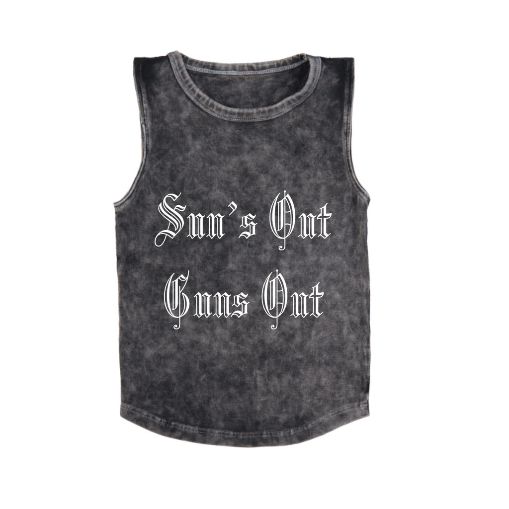 MLW By Design - Suns Out Guns Out Stonewash Tank