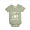 MLW By Design - I Love My Uncle / Aunt Bodysuit | Sage