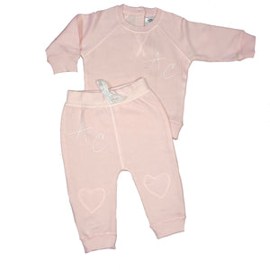 MLW By Design - Initials Tracksuit | Light Pink