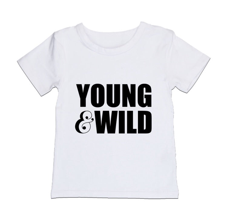 MLW By Design - Young & Wild Tee | Black or White