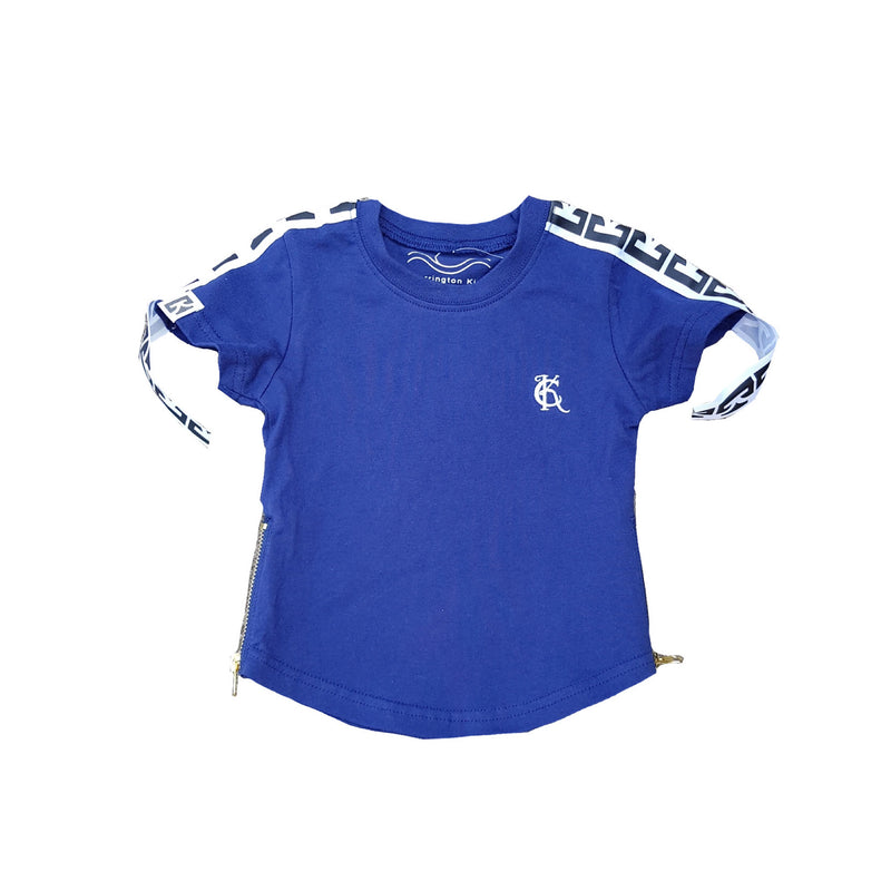 Carrington Kids - Basic Tee With Zipper | Navy