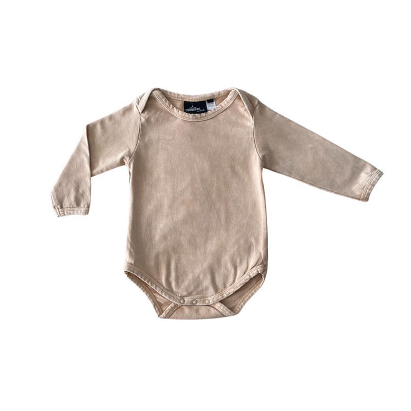 MLW By Design - Basic Long Sleeve Bodysuit | Sand Stonewash