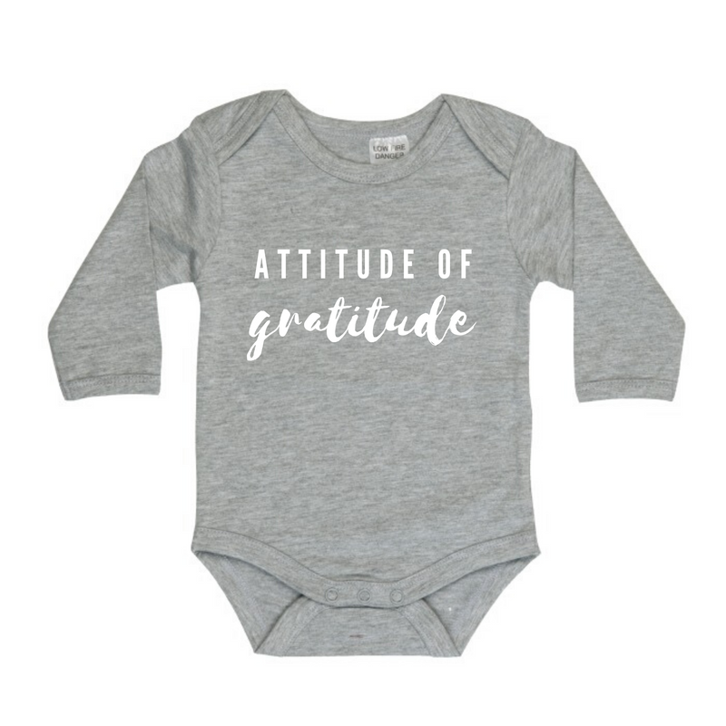 MLW By Design - Gratitude Long Sleeve Bodysuit | Grey