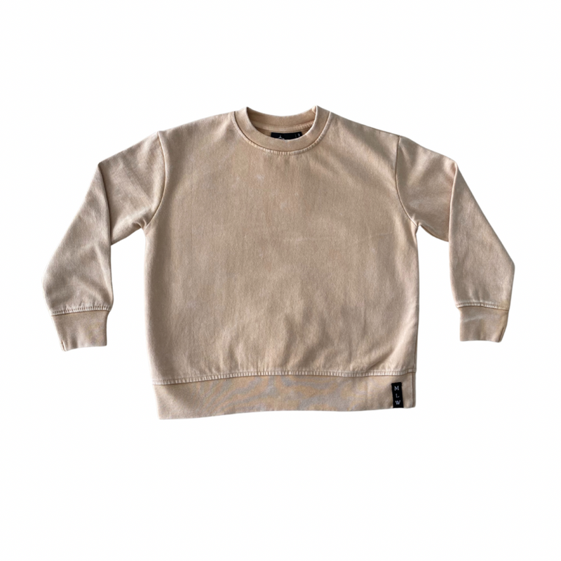 MLW By Design - Basic Stonewash Jumper | Sand