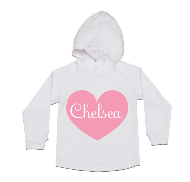 MLW By Design - Personalised Name Heart Hoodie | White or Black