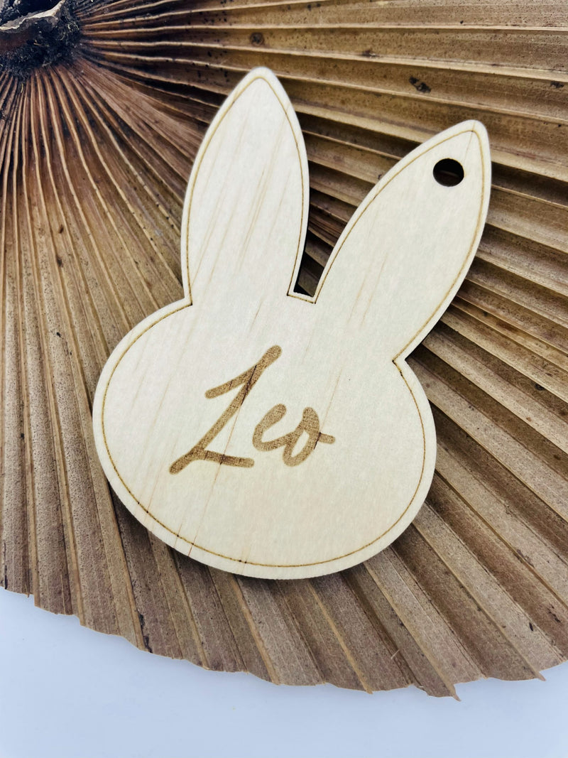 Timber Tinkers - Personalised Easter Tag Bunny Head