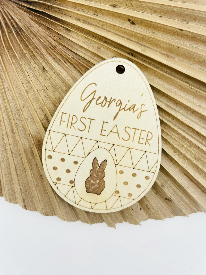 Timber Tinkers - Personalised Easter Tag Easter Egg