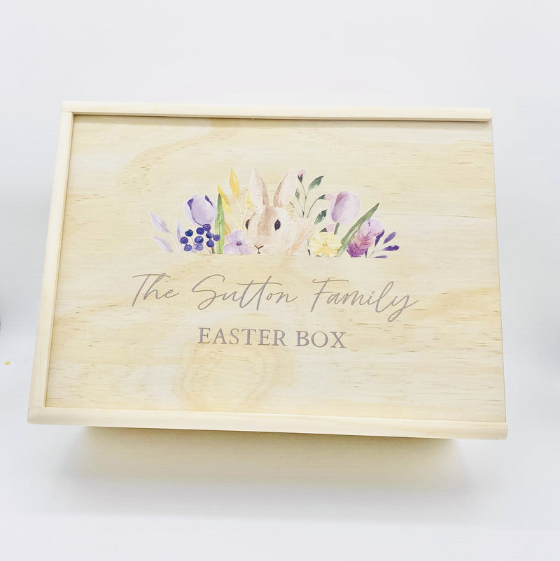 Timber Tinkers - Keepsake Boxes – Easter Bunny Floral