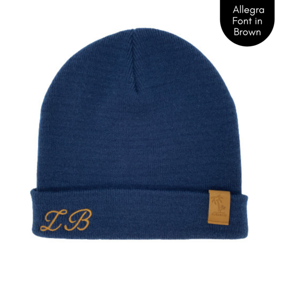 Cubs & Co - PERSONALISED SIGNATURE NAVY BEANIE