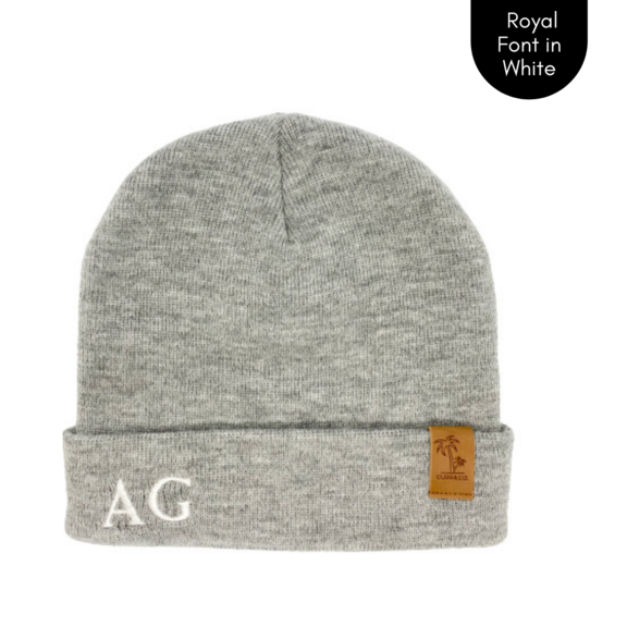 Cubs & Co - PERSONALISED SIGNATURE GREY BEANIE