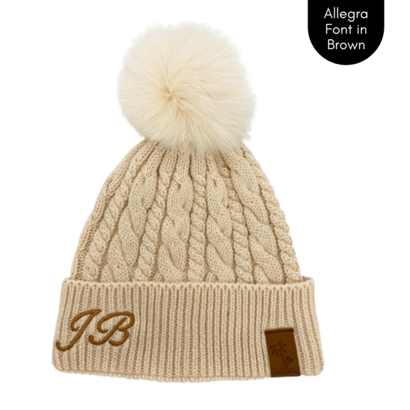 Cubs & Co - PERSONALISED CLASSIC KNIT CREAM BEANIE