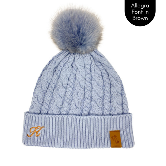Cubs & Co - PERSONALISED CLASSIC KNIT BLUE BEANIE