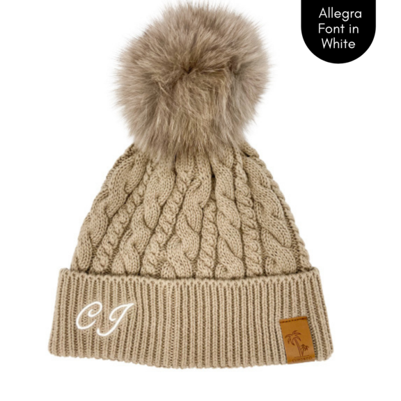 Cubs & Co - PERSONALISED CLASSIC KNIT BROWN BEANIE