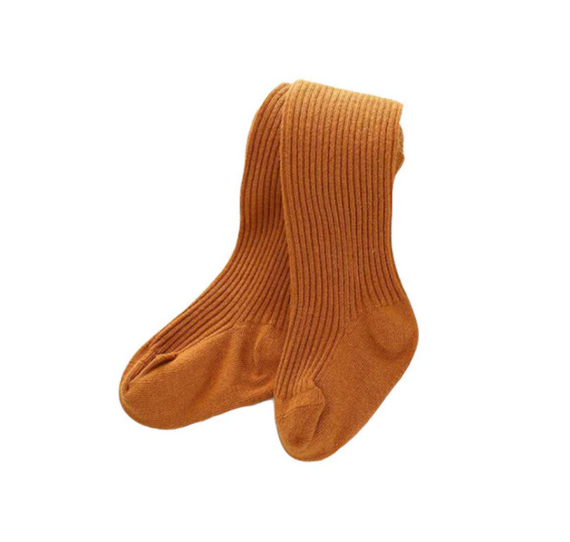 Ribbed Winter Stockings | Mustard