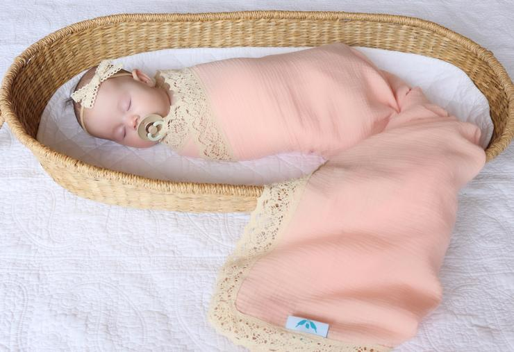 Kute Cuddles - Heirloom Swaddle - Peach
