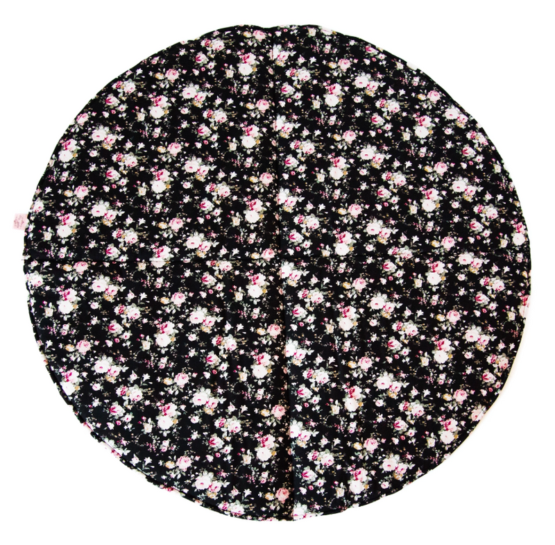 Bambella Designs - Play Mat | Black Flower