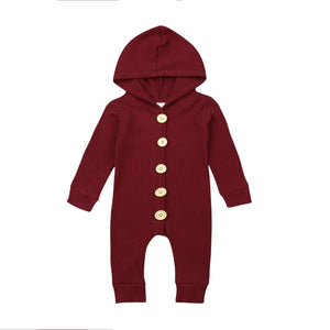 Ribbed Button Onesies | 3 Colours