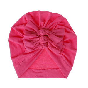 Ruffle Turban | Hot Pink