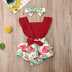Bella Rompers | Lemon or Watermelon