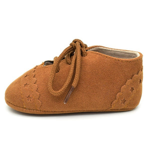 Star Lace Up Shoes | Brown